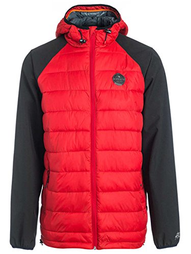Rip Curl Jackets - Rip Curl Mixer Anti Insulated Jacket - Charcoal Pompeian Red