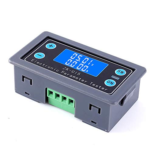 PEMENOL Multifunktions Messgerät DC 5V-38V LCD Voltmeter Amperemeter mit Digital Bildschirm für Testen Spannungs Strom Batteriekapazität Leistungs Lade-und Entladezeitregler und Entladekapazitätregler Lcd-voltmeter
