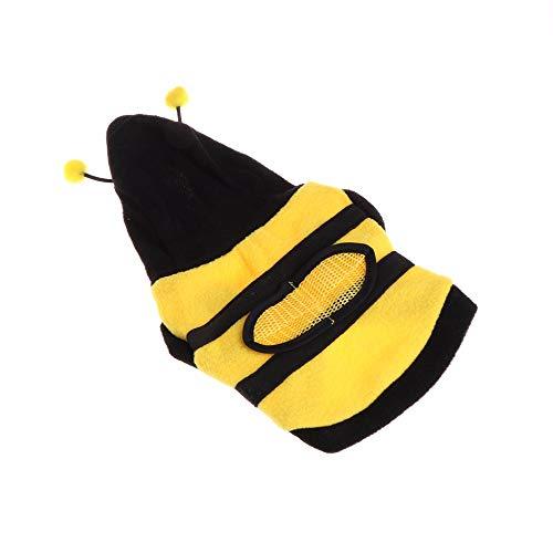 BABYS'q Katzen-/Hunde Kostüme, Niedliche Haustier-Bienen-Kleidung, Weiche Warme Leichte Fleece-Kleidung Für Welpen-Dressing Herbst/Winter,16 (Kostüm Hund Baby)