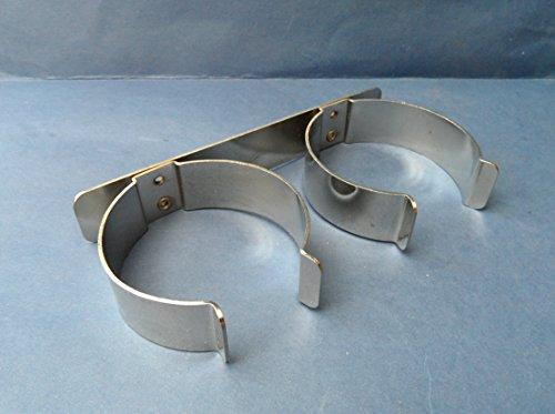 Preisvergleich Produktbild 2 x 2 Weinflaschen Holders. Metall chrom PLATED. Wohnwagen / Wohnmobil / static. 170 mm lang