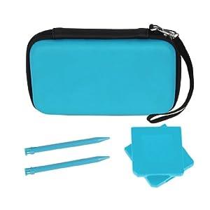 Nintendo 3DS 5-in-1 Starter Pack / Case / Tasche: Blau