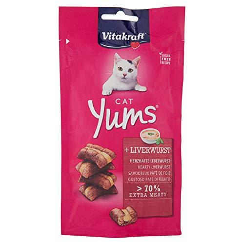 Vitakraft Cat Yums, Leckerlies für Katzen, Leberwurst, 40g