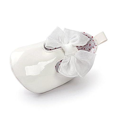Fulltime(TM) Baby Girl Bling Bowknot Sneaker Anti-slip Soft Sole Toddler