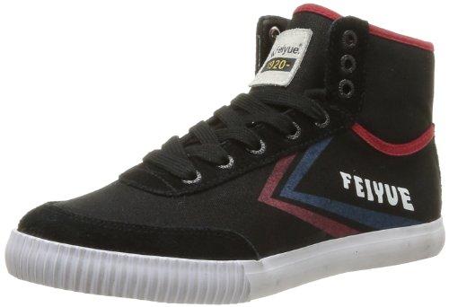 Feiyue As High Original 1920, Baskets Mode Unisex Erwachsene, Schwarz - Noir (Black/Red/Blue) - Größe: 38 EU