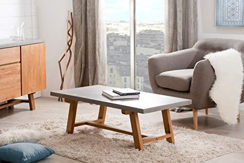 Macabane Table Basse, Chene Clair/Beton, 120 x 60 x 41,5 cm