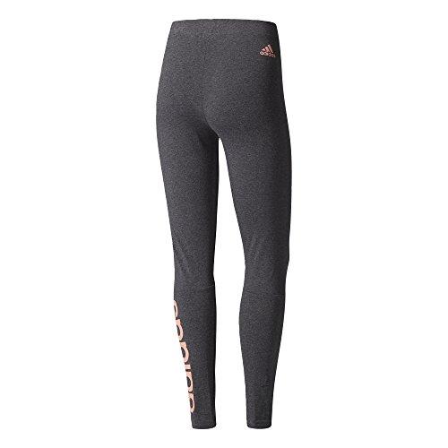 adidas Damen Essentials Linear Tights Dark Grey Heather/Tactile Rose