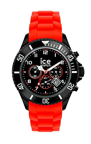 Ice-Watch - ICE Chrono Black Red - Montre rouge pour homme avec bracelet en silicone - 013706 (Large)