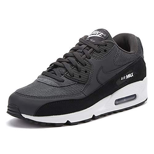 Nike Herren AIR MAX 90 Essential Leichtathletikschuhe, Schwarz (Anthracite/White/Black 000), 45 EU (45)