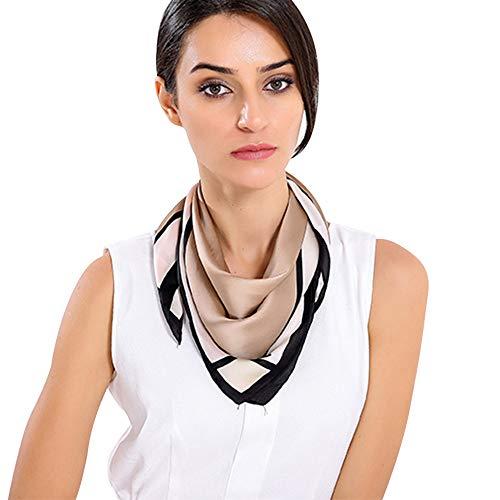 TianWlio Schals Frauen Weihnachten Gedruckt Muster Square Scarf Head Wrap Halstuch Halstuch