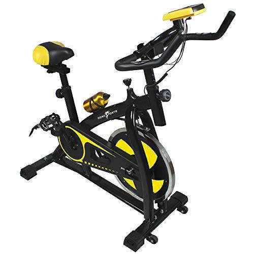 41c8n0WFYxL. SS500  - Nero Sports Upright Exercise Bike Indoor Studio Cycles Aerobic Training Fitness Cardio Bike