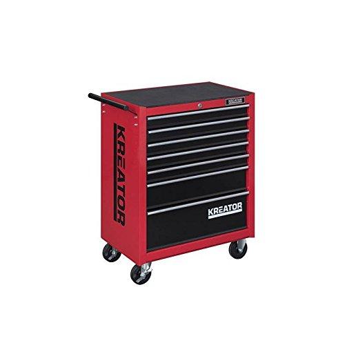 Mobiler Werkstattwagen Werkzeugwagen 348 tlg. gefüllt abschließbar 7 Schubladen