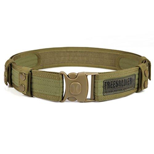 FREE SOLDIER Outdoor Herren Nylon Gürtel Taktischer Gürtel Freizeit Gürtel(Schlamm farbe)
