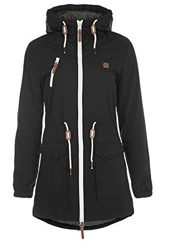 DESIRES Tilonga Damen Übergangsmantel Parka Jacke mit Kapuze, Größe:XL, Farbe:Black (9000) (Mantel Damen Wintermantel)