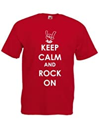 Keep Calm and Rock On PRINTED ON T-SHIRT