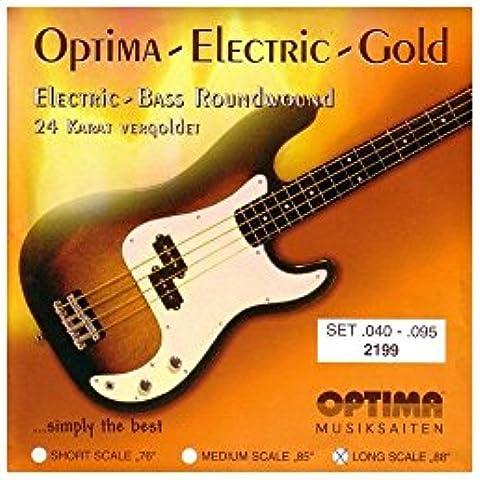 Chapado en oro de Optima 2199 40-95 luz escala larga cuerdas de guitarra de Bajo