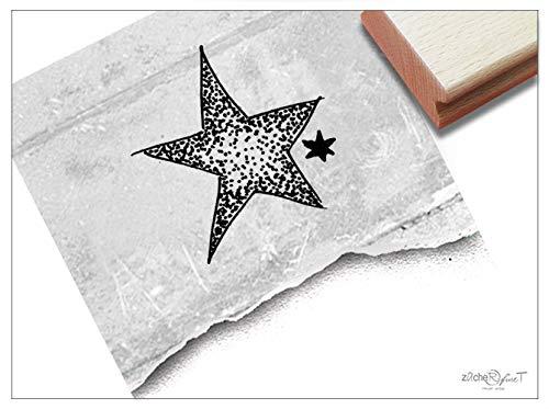 Stempel Weihnachtsstempel STERN in Dotwork - Motivstempel Bildstempel Weihnachten Karten Geschenkanhänger Geschenk Weihnachtsdeko - zAcheR-fineT