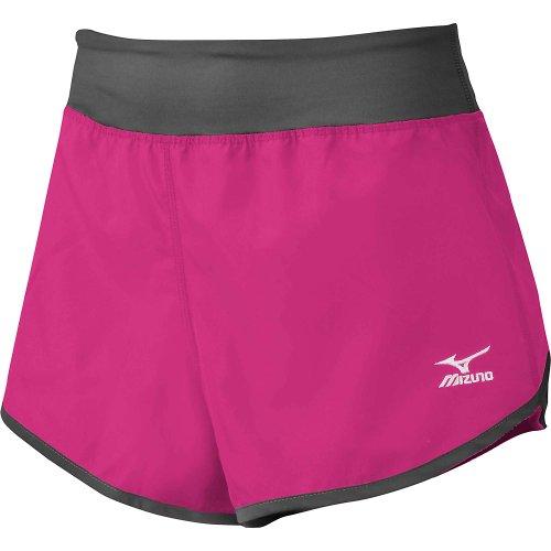 Mizuno Women's Cover Up Shorts, Pink/Charcoal., XX-Small (Womens Mizuno Pant-team)