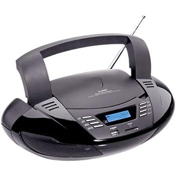 tragbarer cd player radio mit usb und sd mp3 elektronik. Black Bedroom Furniture Sets. Home Design Ideas
