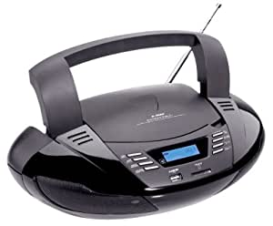 tragbarer cd player radio mit usb und sd mp3. Black Bedroom Furniture Sets. Home Design Ideas