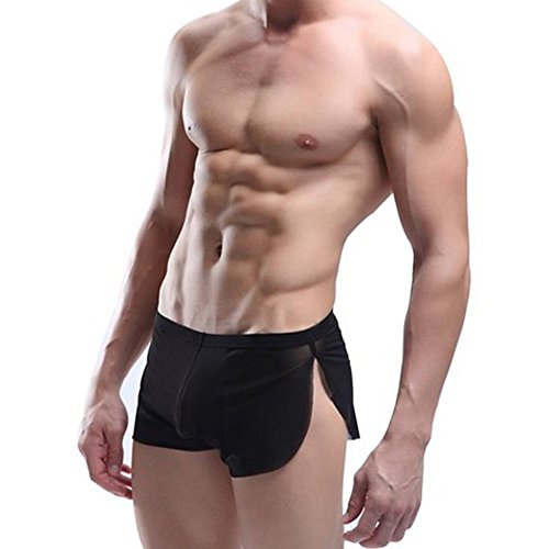 West See Herren Unterwäsche Reizvolle Wäsche Männerwäsche Dessous Boxershorts Trunks Unterhosen (EU M(Herstellergröße L), Schwarz)
