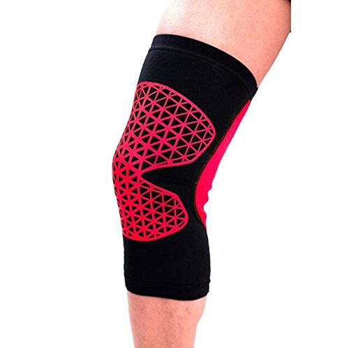 XY&CF Männer und Frauen Knieschützer Schutzausrüstung Basketball Reiten Knieschützer Sommer Dünne Kniebeuge Kniestütze Elastisch (Größe : L (Knee Circumference 40-43cm))