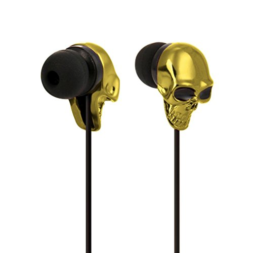 Huihong 3.5mm In Ohr Stereo KopfhöRer Metall Headset Super Bass Musik KopfhöRer OhrhöRer FüR Handy / PC / MP3 (Gold) Gold Motorola Headset