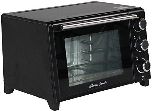charles-jacobs-23-litre-capacity-1500w-mini-oven-and-grill-in-black-ideal-for-student-or-small-space