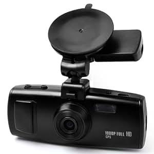 E-PRANCE 3H2F GS6000 Ambarella A7 Caméra de voiture avec haute résolution super HD 2304x1296p 30 img/s WDR Enregistreur de données GPS Accéléromètre Incrustation de la plaque d'immatriculation LED pour vision nocturne Sortie HDMI Enregistrement en boucle