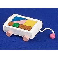 12th Scale Dolls House Nursery Accessory - Bricks Trolley - pastel