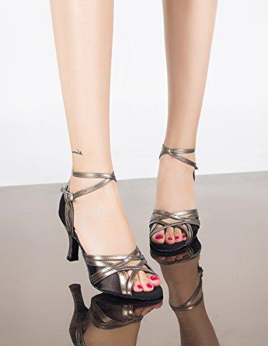 Miyoopark , Salle de bal femme Grey/Black-7.5cm Heel