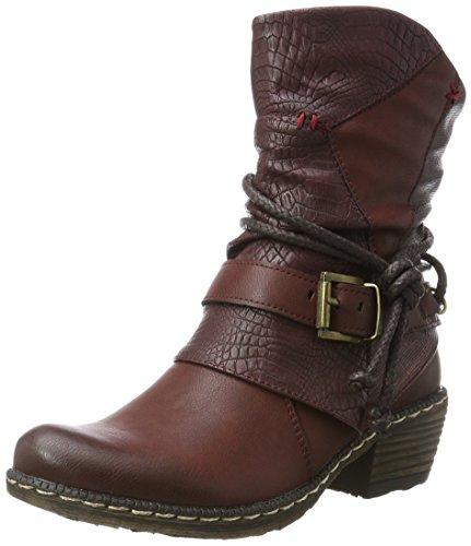 Rieker Kinder Mädchen K1480 Cowboy Stiefel, Rot (Bordeaux/Vinaccia/Burgund / 35), 37 EU -