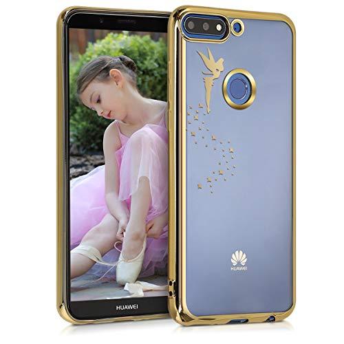 kwmobile Huawei Y7 (2018)/Y7 Prime (2018) Hülle - Handyhülle für Huawei Y7 (2018)/Y7 Prime (2018) - Handy Case in Gold Transparent