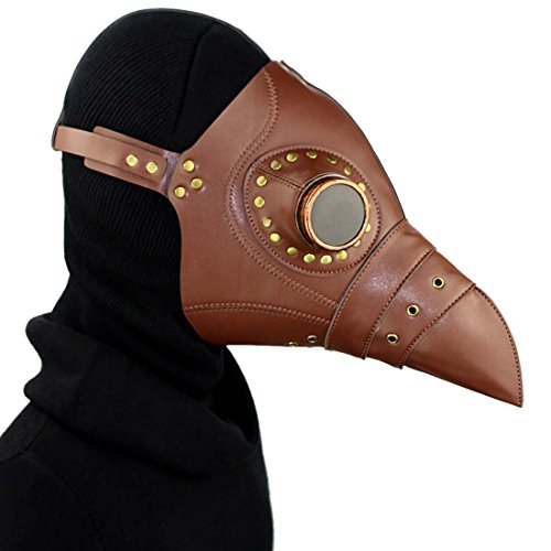QIYUN.Z Pest Schnabel Maske Gothic Cosplay Retro Doktor Vogelmaske PU-Leder ()