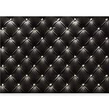 murando - Vlies Fototapete 500x280 cm - Vlies Tapete - Moderne Wanddeko - Design Tapete - Leder Diamant modern Textur schwarz f-B-0044-a-a