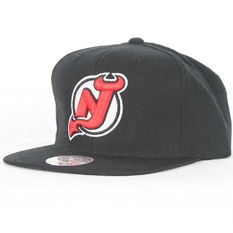 Mitchell and Ness - - Devils du New Jersey Vintage Hat Snapback Laine d'Équipe Couleur secondaire, O/S, Team Secondary Color