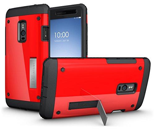 TUDIA Ultra Tough OMNIX Dual Layer Schutzhülle OnePlus Two / OnePlus 2 Ganzkorper-Schutzhulle Hülle mit Displayschutz (Rote)