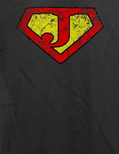 J Buchstabe Logo Vintage T-Shirt Grau