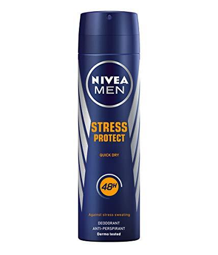 NIVEA MEN Stress Protect Spray en pack de 6 (6 x 200 ml), desodorante antitranspirante para la sudoración por estrés, desodorante para hombre con 48 h de protección