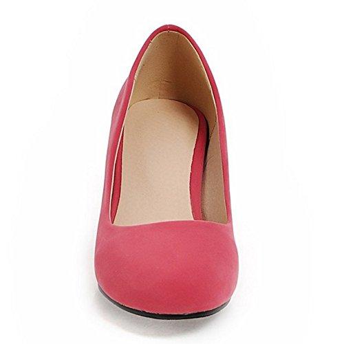 COOLCEPT Damen Mode-Event Slip On Pumps Mitte Blockabsatz Party Shoes Rot