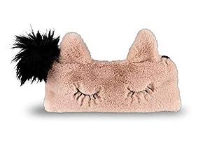"Stylex 47157"" Cat Collection - Estuche de Peluche, Color Rosa y Negro"