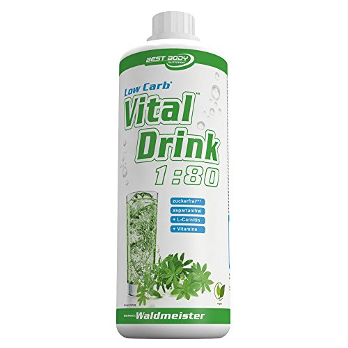 Best Body Nutrition Vital Drink, Waldmeister, 1000ml Flasche