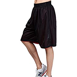 HOEREV Cortos de baloncesto deportes Reversible de los hombres, sin bolsillos