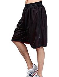 Réversible Shorts HOEREV masculine Basketball Sport, pas de poches
