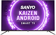 Sanyo 108 cm (43 inches) Kaizen Series 4K Ultra HD Smart Certified Android IPS LED TV XT-43A082U (Black) (2019