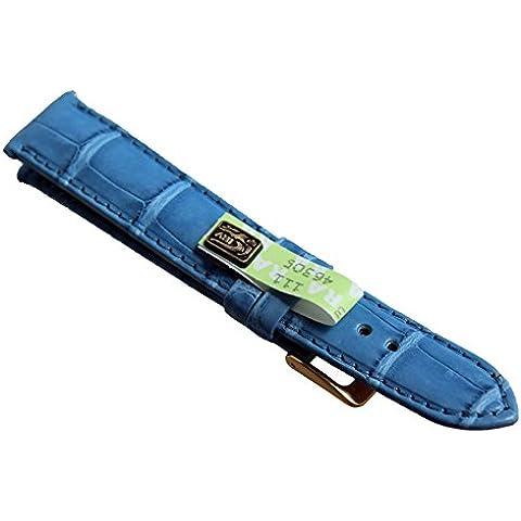 17mm, in vero Graf Louisiana Maurice Lacroix Compatible blu Band Germany coccodrillo alligatore coccodrillo Band N.660