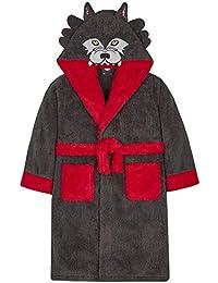 4 Kidz Ältere Jungen Neuheit Bademantel Verkleidung Gorilla Wolf