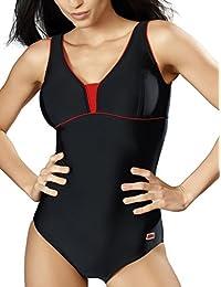 Gwinner Badeanzug Sportbadeanzug Schwimmanzug Bademode Damen einteilig sehr bequem und elastisch, mit weichen, herausnehmbaren Körbchen, aus hochwertigem Material made in EU Anika