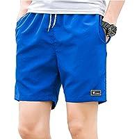 Yying Estate Pantaloni Corti per Uomo Adolescenti - Spiaggia Surf Tempo  Libero Pantalone con Tasche Vita 0fa19a06271