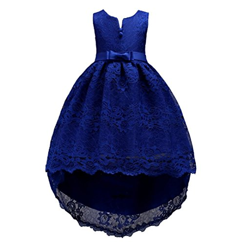 Trada Children Kid Infant Girls Bowknot Lace Zip Pageant Wedding Princess Tutu Dress Baby Kinder...