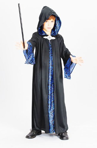 Childrens Wizard Robe Fancy Dress Harry Potter Gandalf Outfit 7-10 Yrs (Harry Wizard Roben Potter)